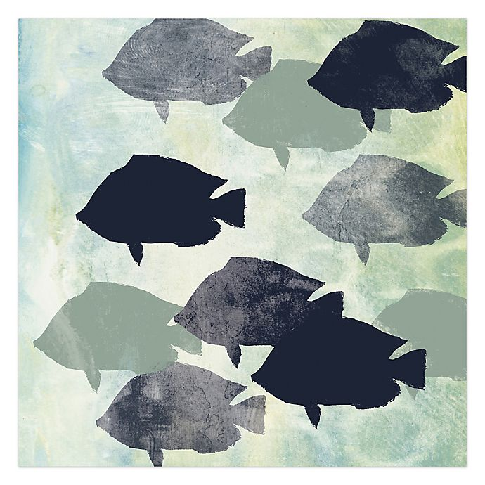 Alternate image 1 for School Of Fish 36-Inch x 36-Inch Canvas Wall Art