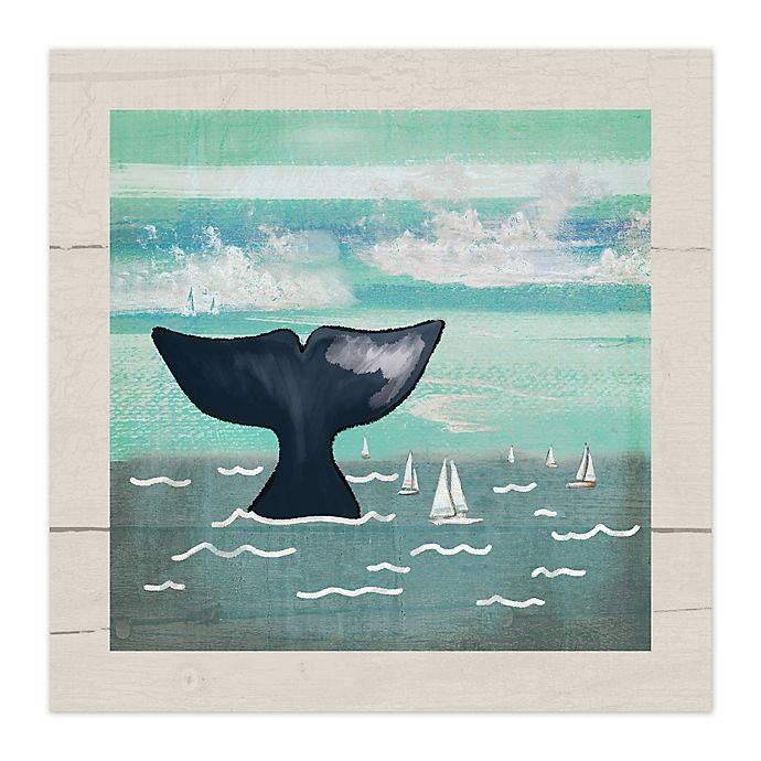 Alternate image 1 for Whale Tail 12-Inch x 12-Inch Canvas Wall Art