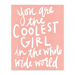 The Coolest Girl Canvas Wall Art