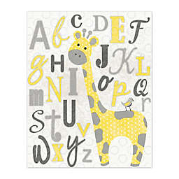 Pied Piper Creative Learn the Alphabet with George the Giraffe Canvas Wall Art