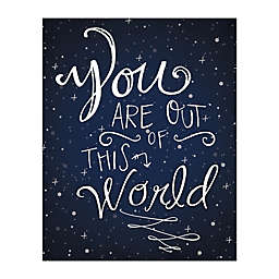Pied Piper Creative Written in the Stars 8-Inch x 10-Inch Canvas Wall Art