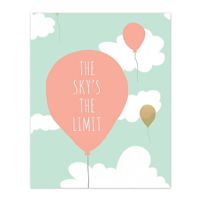 Alternate image 1 for Pied Piper Creative 16-Inch x 20-Inch Sky's the Limit Canvas Wall Art