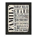 Family Rules 8-Inch x 10-Inch Canvas Wall Art