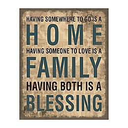 Family Home Blessing Canvas Wall Art