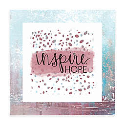 """""""Inspire Hope"""" 12-Inch x 12-Inch Canvas Wall Art"""