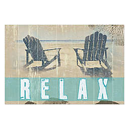 Pied Piper Creative Sit Back and Relax 36-Inch x 24-Inch Canvas Wall Art