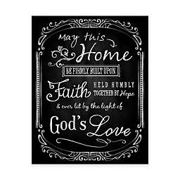 Lit by the Light of God's Love 11-Inch x 14-Inch Canvas Wall Art