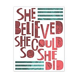 """She Believed She Could So She Did"" Canvas Wall Art"