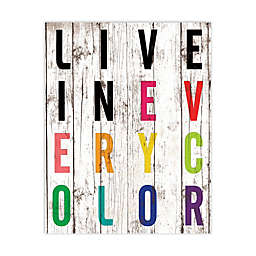 """Pied Piper Collection """"Live in Every Color"""" Canvas Wall Art"""