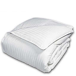The Seasons Collection® Cotton Light Warmth Down Twin Comforter with Damask Stripe