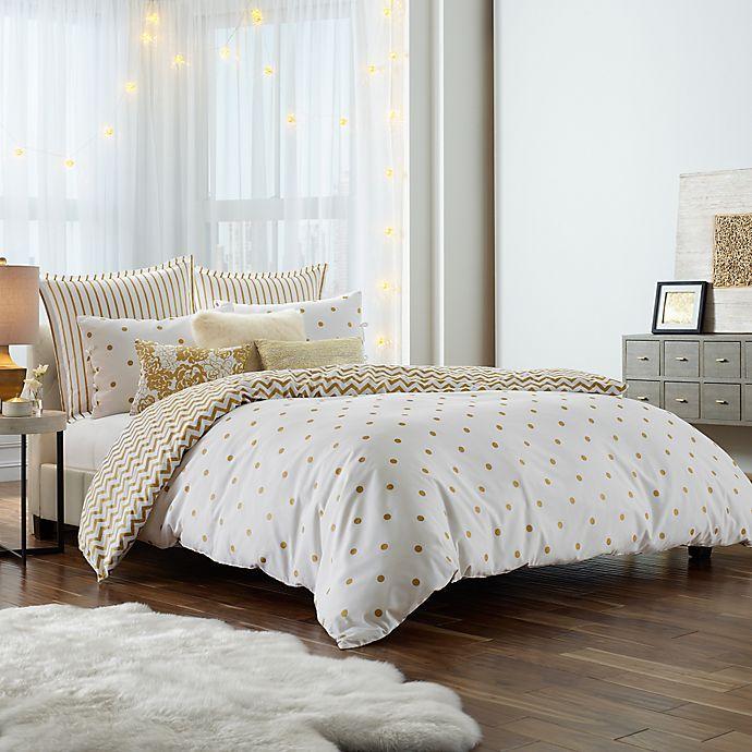 Alternate image 1 for Anthology™ Gold Glam Mini Comforter Set