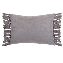Wamsutta® Kenton Oblong Throw Pillow in Grey