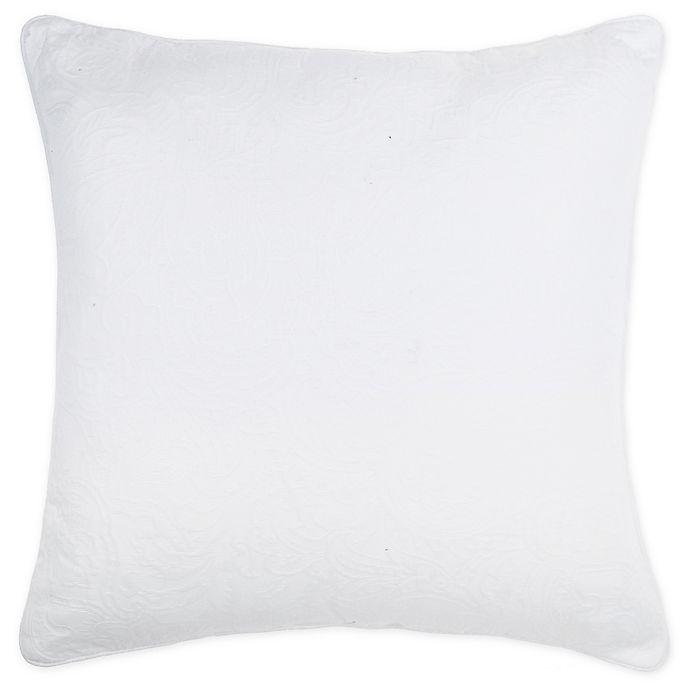 Alternate image 1 for Wamsutta® Kenton Square Throw Pillow in Ivory
