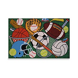 Fun Rugs™ Let's Play Area Rug in Green