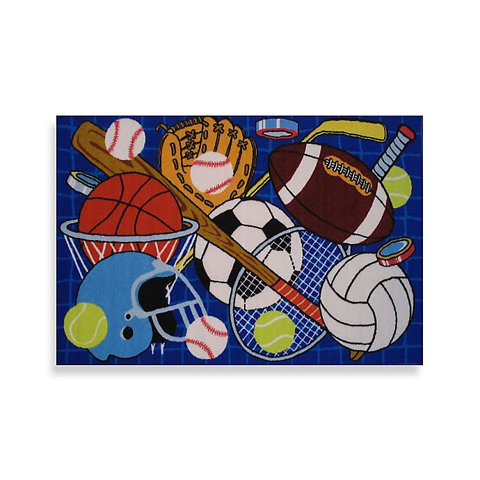 Alternate image 1 for Fun Rugs™ 39-Inch x 58-Inch Let's Play Rug in Blue