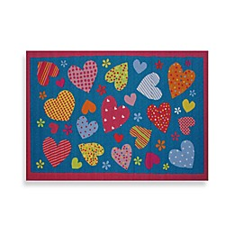 Fun Rugs™ Hearts Area Rug in Turquoise