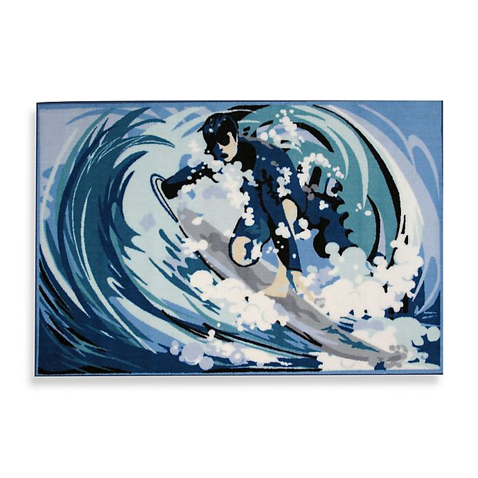 Alternate image 1 for Fun Rugs™ 19-Inch x 29-Inch Surfin Rug
