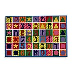 Fun Rugs® Hebrew Numbers and Letters 1-Foot 7-Inch x 2-Foot 5-Inch Accent Rug