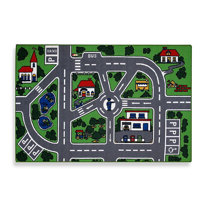 Alternate image 1 for Fun Rugs® Streets 3-Foot 3-Inch x 4-Foot 10-Inch Accent Rug