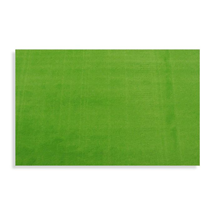 Alternate image 1 for Fun Rugs™ LA Kids 3-Foot 3-Inch x 4-Foot 10-Inch Area Rug in Lime Green