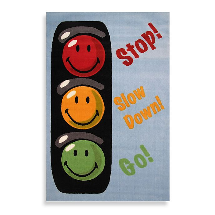 Alternate image 1 for Fun Rugs® Traffic Signal 3-Foot 3-Inch x 4-Foot 10-Inch Accent Rug