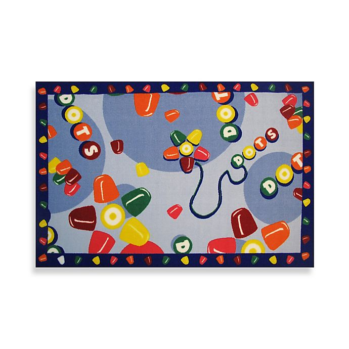 Alternate image 1 for Fun Rugs® Tootsie Roll Dots 1-Foot 7-Inch x 2-Foot 5-Inch Accent Rug