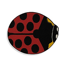 Fun Rugs 2-Foot 11-Inch x 3-Foot 3-Inch Red Lady Bug Rug