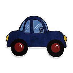 Fun Rugs 2-Foot 7-Inch x 3-Foot 11-Inch Blue Car Rug