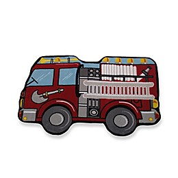 Fun Rugs™ Fire Engine 2-Foot 7-Inch x 3-Foot 11-Inch Rug