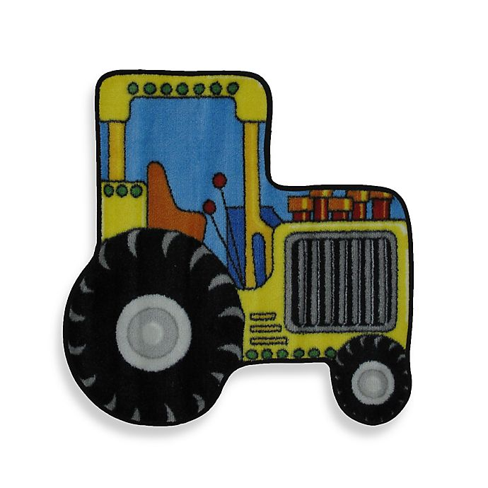 Alternate image 1 for Fun Rugs™ 2-Foot 7-Inch x 2-Foot 7-Inch FR Tractor Accent Rug