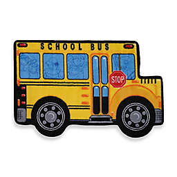 Fun Rugs™ School Bus 2-Foot 7-Inch x 3-Foot 11-Inch Rug