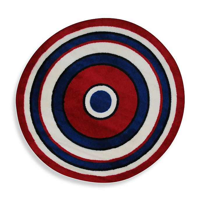 Concentric 4 Foot 3 Inch Round Area Rug