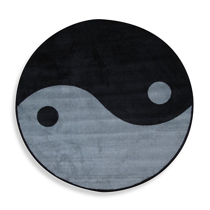 Alternate image 1 for Fun Rugs™ Ying Yang 4-Foot 3-Inch Round Area Rug