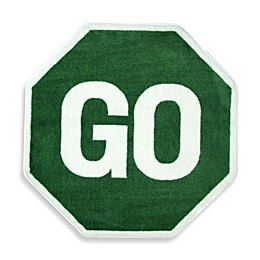 Fun Rugs 3-Foot 3-Inch x 3-Foot 3-Inch Go Sign Rug