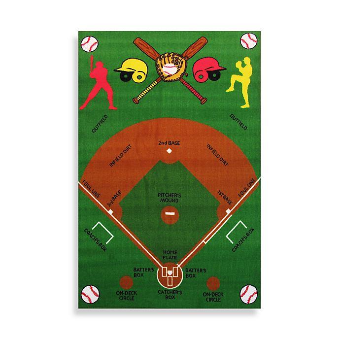 Fun Rugs™ Baseball Field 3-Foot 3-Inch X 4-Foot 10-Inch