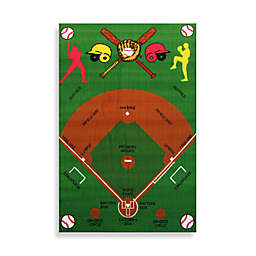 Fun Rugs™ Baseball Field 3-Foot 3-Inch x 4-Foot 10-Inch Accent Rug