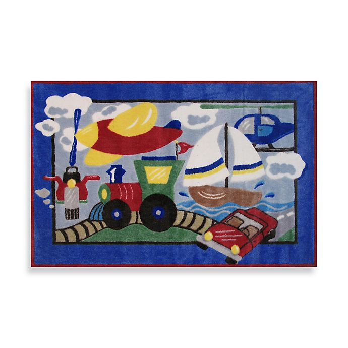 Alternate image 1 for Fun Rugs™ High Speed 3-Foot 3-Inch x 4-Foot 10-Inch Area Rug