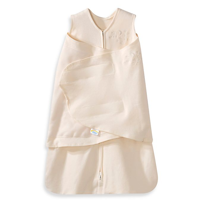 Alternate image 1 for HALO® SleepSack® Newborn Multi-Way Cotton Swaddle in Cream