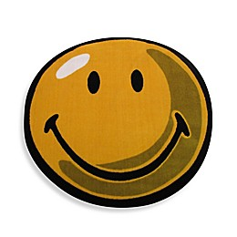 Fun Rugs™ Smiley 3-Foot 3-Inch Round Rug in Yellow