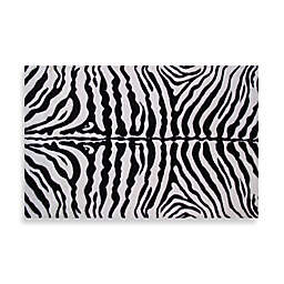 Fun Rugs™ Zebra Skin 5-Foot 3-Inch x 7-Foot 6-Inch Rug in White/Black