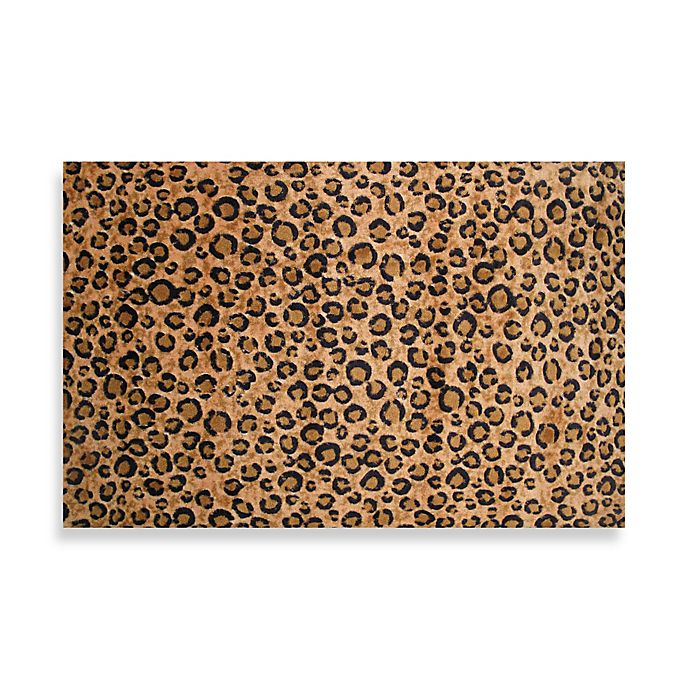 Alternate image 1 for Fun Rugs® Leopard Skin 5-Foot x 7-Foot 3-Inch Area Rug