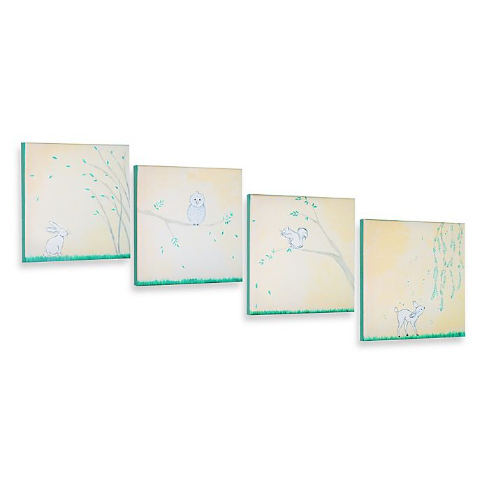 Alternate image 1 for Forest Friends 12-Inch x 12-Inch Gallery Wrapped Canvas Wall Art (Set of 4)