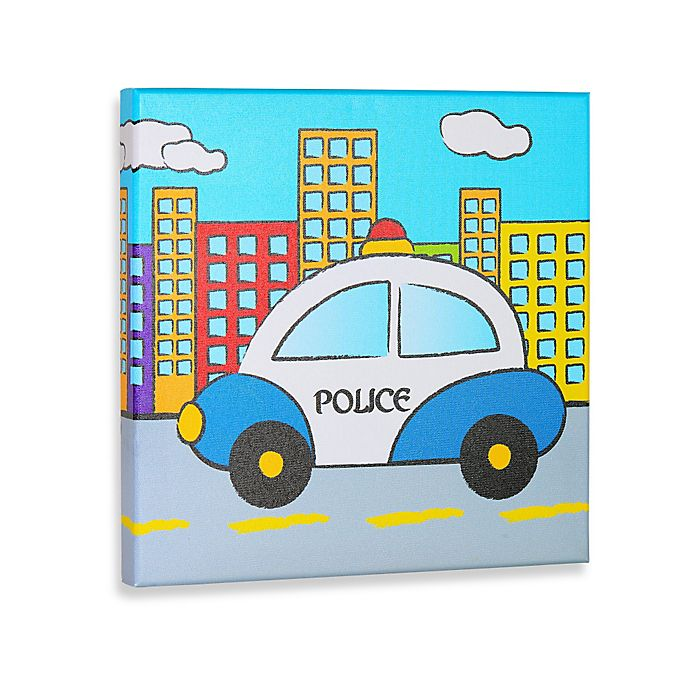 Alternate image 1 for Police Gallery Wrapped Canvas Wall Art