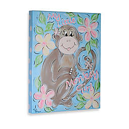 My Little Monkey Girl Gallery Wrapped Canvas Wall Art