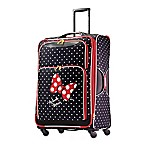 American Tourister® Disney® 28-Inch Minnie Red Bow Spinner Checked Luggage