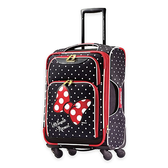Alternate image 1 for American Tourister® Disney® 21-Inch Minnie Red Bow Spinner Carry On Luggage