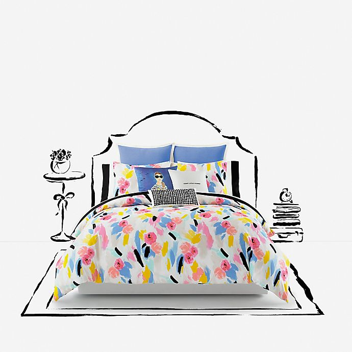 Kate Spade New York Paintball Floral Duvet Cover Set Bed