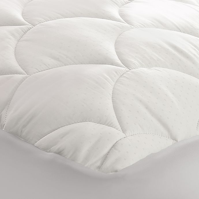 Alternate image 1 for 350-Thread Count Cotton Damask Twin Mattress Pad
