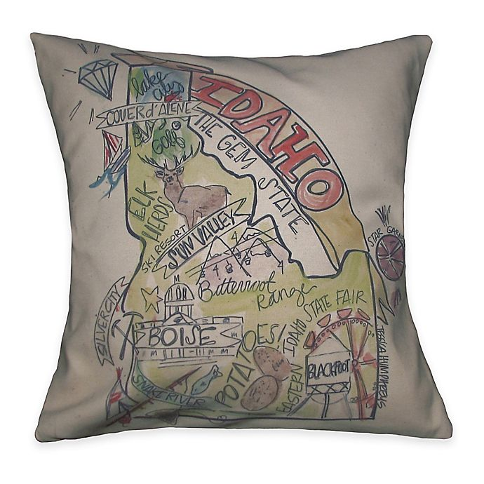 Southern Apparel & Serendipity Idaho Square Road Map Throw Pillow on western us road map online, colorado state road map online, florida road map online, france road map online, south dakota road map online, australia road map online, new york road map online, israel road map online, georgia road map online, mexico road map online, kentucky road map online, northeast us road map online, arizona state road map online, long island road map online, norway road map online, new england road map online, new hampshire road map online, singapore road map online, new jersey road map online, usa road map online,