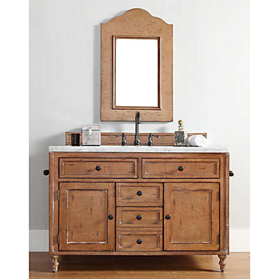 James Madison Furniture Copper Cove 48-Inch Single Vanity with Stone Top in Driftwood